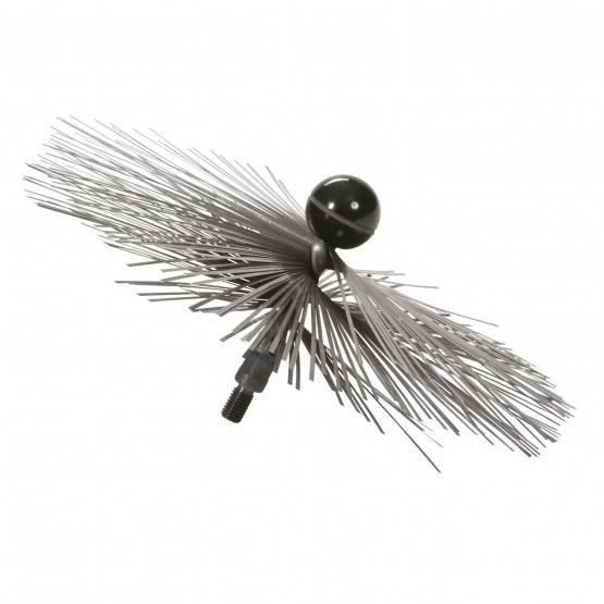 Threaded Brush 25 cm Ø, SS wire
