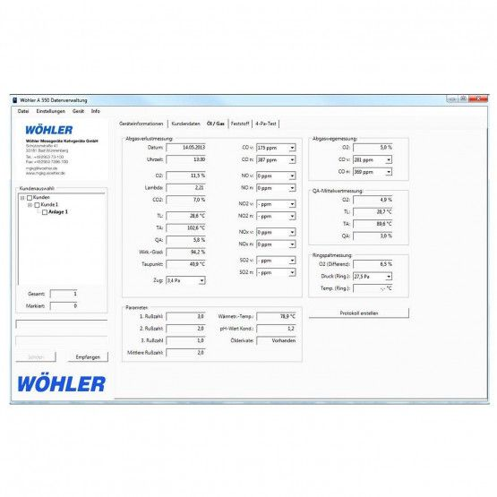 PC-Software Wöhler A 550 INT